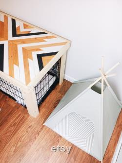 24 Small Cat Dog Teepee Pet Tent- 24 base- natural, black or grey, PICK YOUR PILLOW or Custom Order it