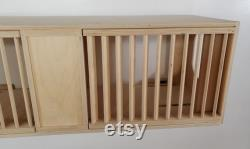 42 L x 13.5 D x 13.5 H, Cat Cave Wall Tunnel with Removable Louvered Front Panels, Provides Simi Privacy for Furbies with Access for Humans