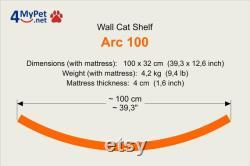 ARC 100 cat shelf, cat shelves, cat furniture, cat bed, cat furniture wall, cat perch, wandregal katze, katzenmöbel, car gift, kitten, kitty