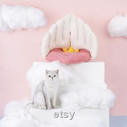 Angel Wings Cute Shape Durable Sofa, Soft Cat Bed, Cute Cat Bed House, Cute Cat Nest, Cat Cave Bed, Pet Bed For Cats