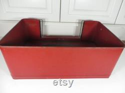 Antique Hendryx Red Metal Dog Bed 1940's Hendryx Dog Bed