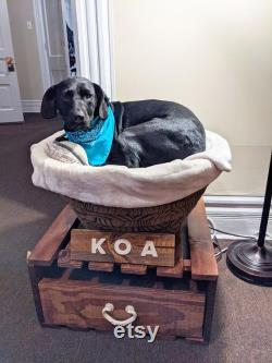 Bowl Dog Bed, Dog Throne, Pallet Dog Bed, Wooden Dog Bed, Personalized Dog Bed, Pet Bed, Repurposed Wood, Small Dog Furniture