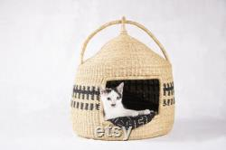 Cat Bed, Handmade Cat Bed, Cat Lounger, Cat Pod, Basket Cat Bed
