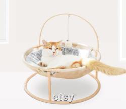 Cat Bed House Pet Small Cats Hammock Beds Mat for Kitten Window Lounger Indoor Nest Kennel Sleeping Puppy Cushion