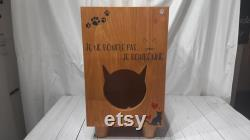 Cat Bed in Real Wood Cat house in Real Wood Personalized