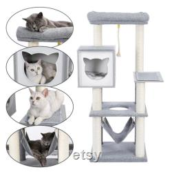 Cat Climbing Tree Cat Condo with Scratching Post Modern Cat Playing Tower Cat Hammock Cat Spacious Perches Kitten Playing Furniture