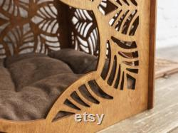 Cat furniture, Cat house and Cat scratching post 23.6 inches,kitten house, strong cat tree, modern cat tower, cat scratcher house,kitty cave