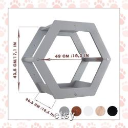 Cat hexagon shelves Gift set for cats Cat furniture Cat beds Cat wall furniture Cat wall shelves Cat house at condo Beige pet house