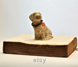 Cozy Pet Bed with Orthopedic Mattress Handmade from Reclaimed Pine