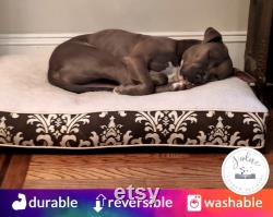 Custom Dog Bed Cushion Comfy Cozy, Supportive, X-Small, Medium Large, Hypoallergenic Washable Dog Bed