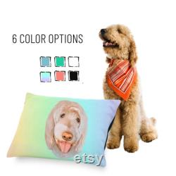 Custom Indoor Dog Bed, Using Pet Photo Name Custom Dog Bed, Pet Floor Pillow, Fabric Dog Bed, Dog Cushion, Luxury Bed, Dog Lover Gift