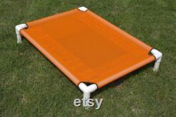 Custom Large Hammock Dog Bed, Dog Beds Furniture, Made In USA Custom Dog Bed Cots, 15 Canvas Colors OR 11 Mesh Colors Dogs Up To 130 Pounds.