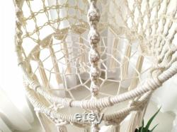 Customizable Height and Colors Hanging Macrame Cat Basket Bed, Heavy Duty Cotton Rope Macrame Cat Swing Hammock, Hanging Cat Bed, Cat Gift