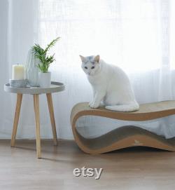 Designer Cat Scratching Post Shelf Modern Pet Mat Furniture Play Animal Lounger Cat Sleeping Pouf Cave Cozy Pet Scratcher Cat Lover Gift