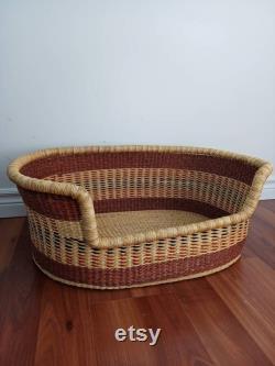 Dog Bed Basket Woven Basket for Dog Pet Bed Natural Pet Bed