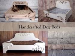 Dog Bed, FREE SHIPPING, Wooden Dog Bed, Raised Dog Bed, Pet Bed, Wood Dog Beds, Small Dog Bed, Newborn Bed Prop, Cat Bed, Dog
