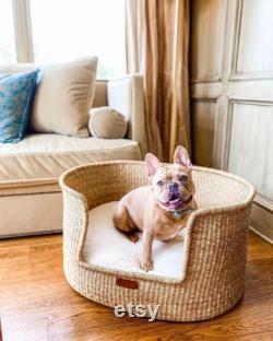 Dog Bed, Handmade Dog Bed, Dog Lounger, Dog Seat, Puppy Bed, Basket Dog Bed, Dog Basket and Cushion