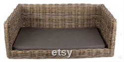 Dog Bed Luxury Rattan Dog Sofa Bed Wicker Dog Bed