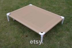 Dog Bed, PVC Pipe Large Cots, Custom Made MESH Pet Screen Raised Beds, Cat Bedding, 32x44, 11 COLORS Medium To Large Dogs Up To 130 Pounds.