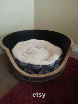Dog Bed from Retired Napa Wine Barrel