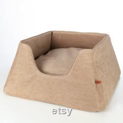 Dog bed Nest. Modern dog bed. High sides pet bed. Comfortable Cushion For cat. Secure pet nesting. Design pet house. Pet furniture