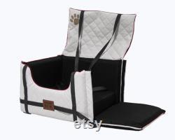 Dog car seat DOG seat LUX COMFORT Dog bed car basket car seat car basket art leather