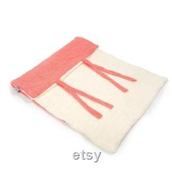 Eco Organic Cotton Travel Blanket Bonny in Two Sizes . Dogs cuddly blanket and berth Dog bed Sustainable Dog Place Dog blanket