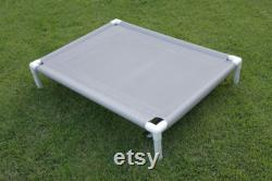 Elevated Bed 4 Sizes 11 Mesh Colors OR 15 Canvas Colors Dog Cot Outside Beds, Kennel Beds, Cat Bed, Veterinarian Beds, Dogs Up To 130 Pounds