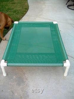 Elevated Dog Bed, 32x44 Ready To Ship Spruce Green Mesh, Raised Bed, Orthopedic Dog Beds, Indoor Outdoor Dog Cot, Dogs Up To 130 Pounds.