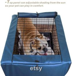Explore Land Dog Crate Cover for 24 30 36 42 48 Inches Wire Cage, Heavy-Duty Lattice Pet Kenne