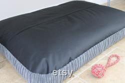 Extra Large Bean Bag Dog Bed, Luxury Grey Jumbo Cord Dog Bed, Calming Orthopaedic Dog Mattress, XL Cushion Pillow Dog Bed, Washable Cover.