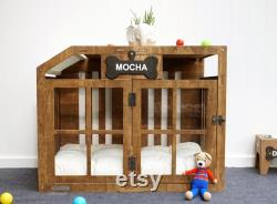 Handmade Modern Dog House Pet Furniture Wood Dog Kennel Wooden Dog Kennel Wood Dog Crate Modern Dog House Dog Mom Gift