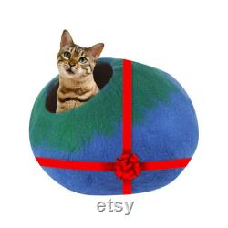 Handmade Premium Felted Hand-Crafted 100 Merino Wool Cat Caves Large Cats, Kittens, Small Animals