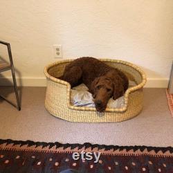 Handwoven Dog Basket, Dog Bed, Dog Furniture, Custom Dog Bed, Extra Large Dog Bed, Small Dog Bed, Puppy