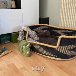 Handwoven Dog Basket, Dog Bed, Dog Furniture, Custom Dog Bed, Extra Large Dog Bed, Small Dog Bed, Puppy Mocha Dog Basket