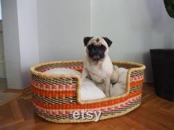 Handwoven Dog Basket, Dog Bed, Dog Furniture, Custom Dog Bed, Extra Large Dog Bed, Small Dog Bed, Puppy Star Dog Basket