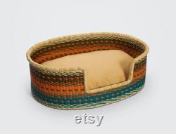 Handwoven Dog Basket, Dog Bed, Dog Furniture, Custom Pet Bed, Extra Large Dog Bed, Small Dog Bed, Puppy Bella Dog Bed