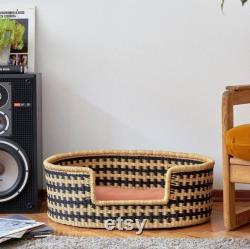 Handwoven Dog Basket, Dog Bed, Dog Furniture, Custom Pet Bed, Extra Large Dog Bed, Small Dog Bed, Puppy Bro Dog Basket