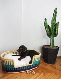 Handwoven Dog Basket, Dog Bed, Dog Furniture, Custom Pet Bed, Extra Large Dog Bed, Small Dog Bed, Puppy Layka Dog Basket