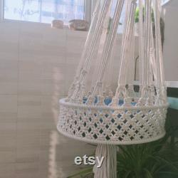 Hanging Macrame Cat Basket, Hanging Cat Macrame Bed, Macrame Cat Swing, Cat Planter, Macrame Cat Carrier, Cat Lover Gift