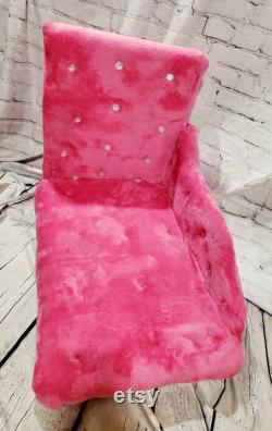 Hot Pink Pet Chaise Bed, Fushia Pet Chaise Bed, Chaise dog bed, Chaise, Cat bed, Chaise Pet Bed, Luxury pet Chaise Lounge,Cat Chaise bed