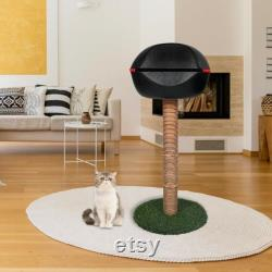Huge Kitty Cat Tower Bed, Lounge, Sisal Tree Perch with Adjustable 3-pc Height