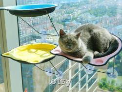 Iron Cat Hammock Bed, Window Sill Cat Bed, Cat Window Perch, Cat Shelf Seat, Fashion Cat Furniture, Suction Cup Cat Bed House