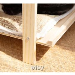 Japanese style cat house, handmade cat nest, four seasons cat bed, warm cat house in winter, cat supplies