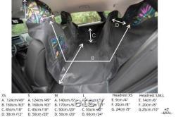 Kuko car seat cover for dog (hammock, non slip) BALCKandSILVER