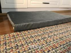 LUVLY Memory Foam Dog Bed Orthopedic Ultra Plush Mattress, Thick Waterproof Lining and Machine Washable Cover, Grey
