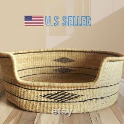 Large Bolga Dog Basket African Dog Bed Handmade Dog Bed Comfortable Dog Bed Wicker Dog Bed Dog Bed