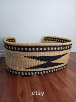 Large Dog Bed Basket Woven Basket for Dog Pet Bed Pet Basket Vegan Dog Bed