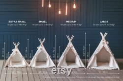 Luxury Pet Teepee Tent from 100 Linen in Green