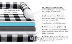 Modern Boho Dog Bed Bolster Pillow Optional Waterproof Liner